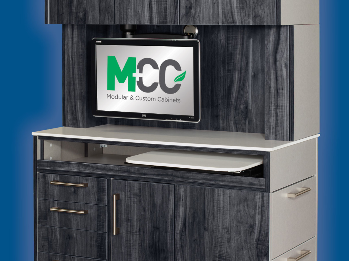 Custom dental cabinets from MCC Dental's Brilliance Collection.